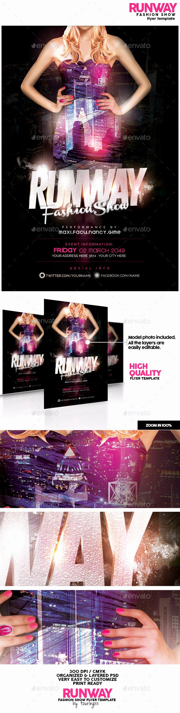 Fashion Show Flyers Template Elegant Runway Fashion Show Flyer Template by touringxx