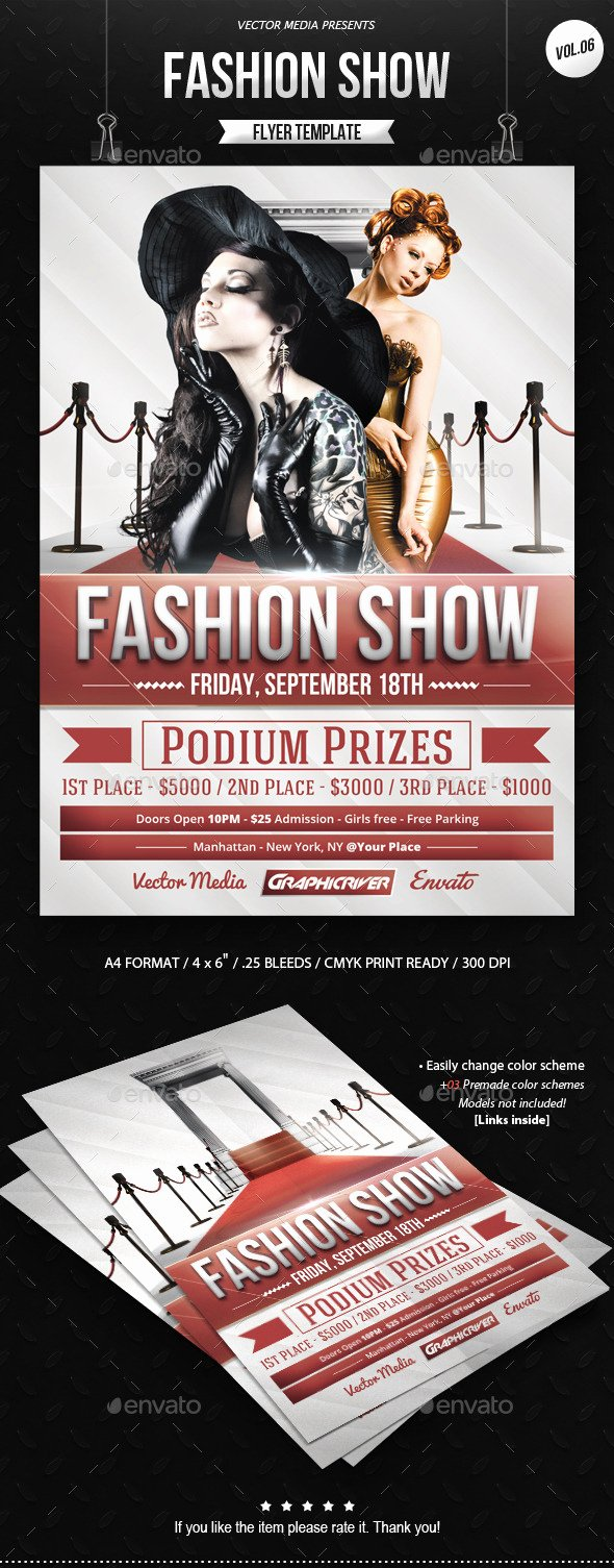 Fashion Show Flyers Template Fresh Fashion Show Flyer Backgrounds Tinkytyler Stock
