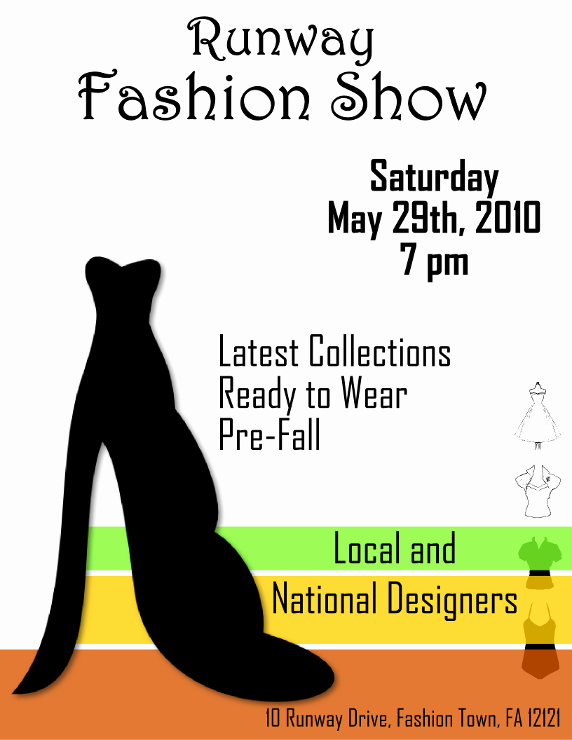 Fashion Show Flyers Template Fresh Fashion Show Flyer Template 2 Free View R Image