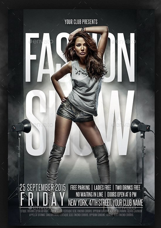 Fashion Show Flyers Template Inspirational 30 Best Fashion Flyer Templates