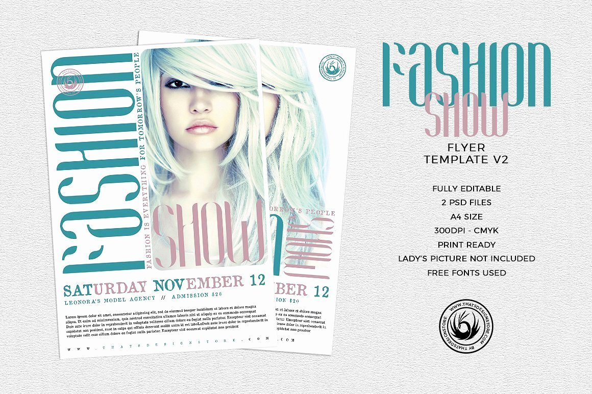Fashion Show Flyers Template Inspirational Fashion Show Flyer Template V2