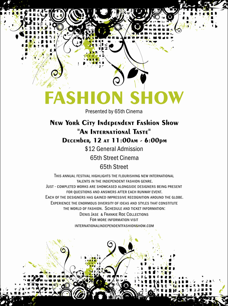 Fashion Show Flyers Template New Fashion Show Flyer