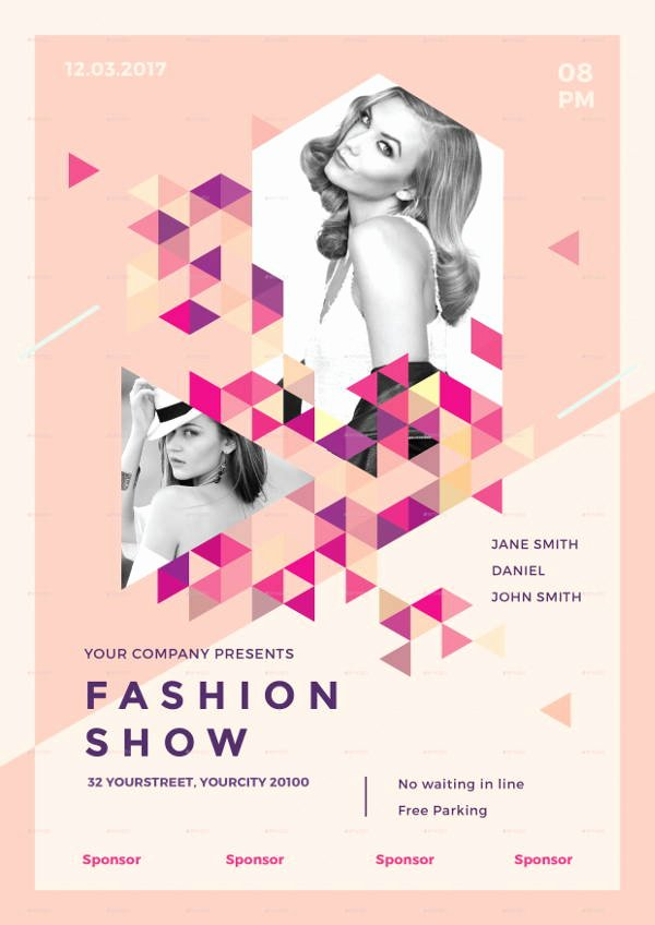 Fashion Show Flyers Template Unique 16 Fashion Show Flyer Templates In Word Psd Ai Eps