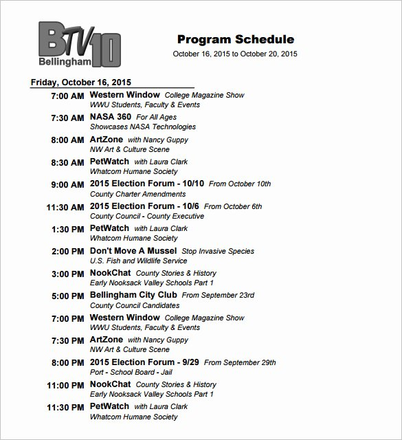 Fashion Show Programme Template Elegant 11 Program Schedule Templates Doc Pdf