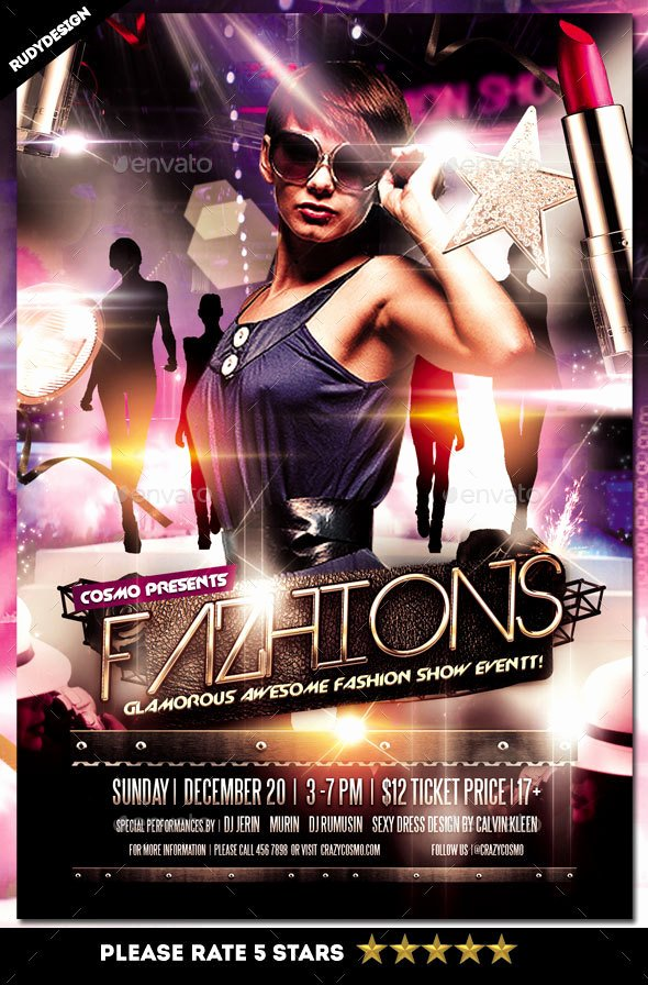 Fashion Show Programme Template Unique Fashion Show Flyer by Rudydesign