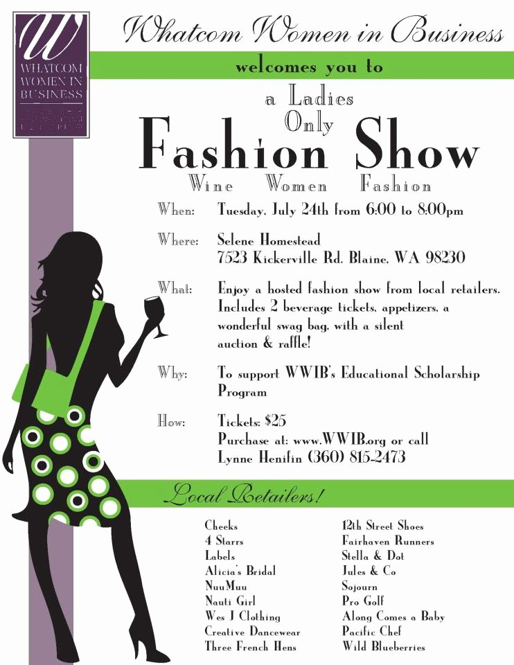 Fashion Show Programme Template Unique Uncategorized