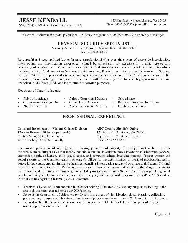 Federal Resume Template Word Best Of Government Resume Template Usa Jobs Builder 1 Federal 8