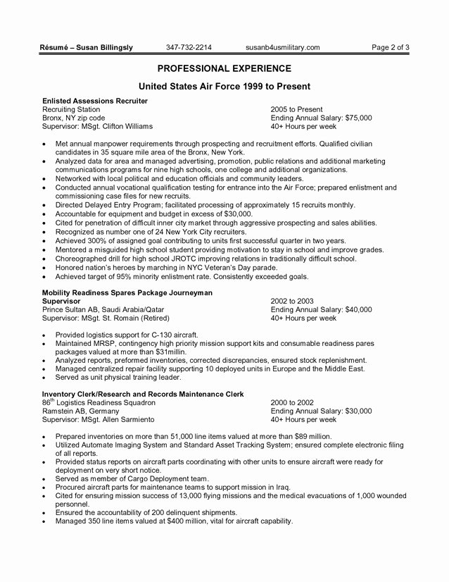 Federal Resume Template Word Unique Federal Resume Template Word