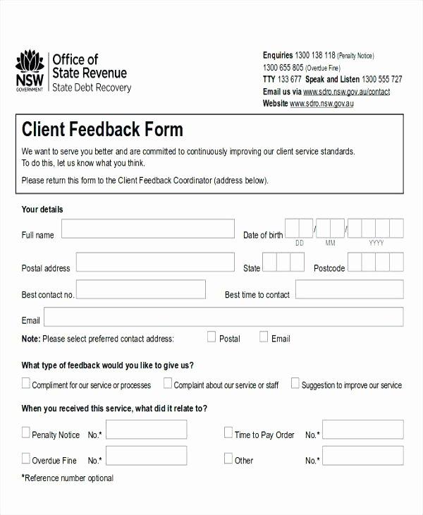 Feedback form Template Word Beautiful Service Feedback form Restaurant Sample forms Mental