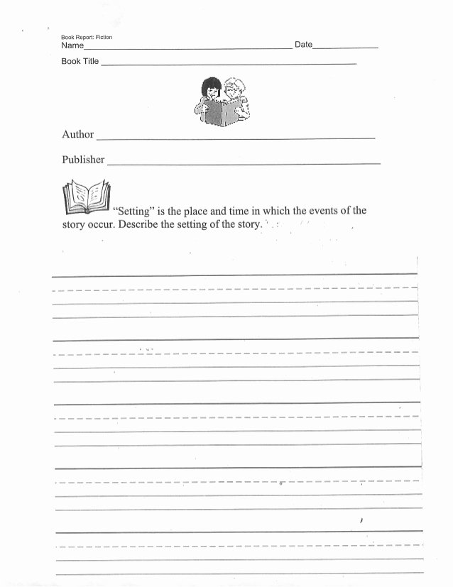 Fiction Book Report Template Best Of Book Report Template