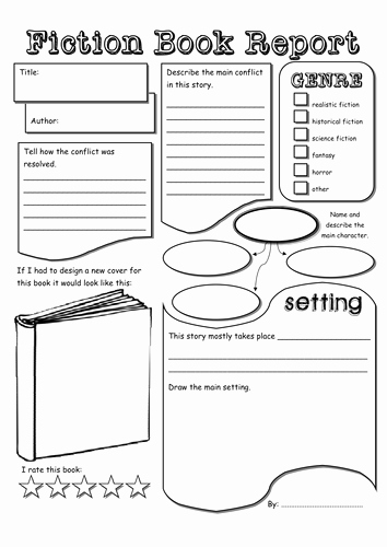 Fiction Book Report Template Elegant Fiction & Non Fiction Book Report by tokyo Molly