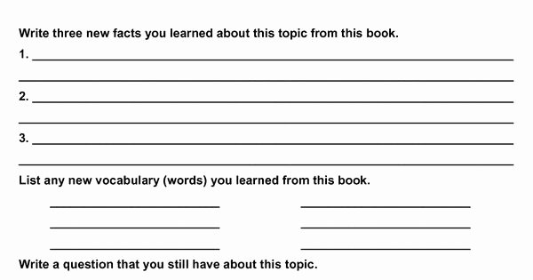 Fiction Book Report Template Inspirational My Non Fiction Book Report School Of Mom