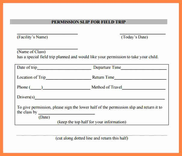 Field Trip form Template Beautiful 6 Field Trip Permission Slip