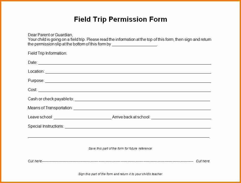 Field Trip form Template Beautiful Field Trip form Template