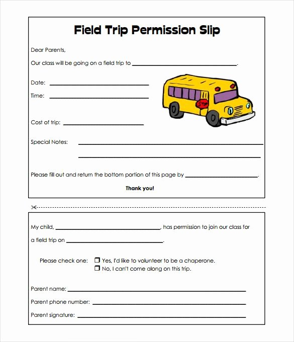 Field Trip form Template Beautiful Image Result for Basic Field Trip Permission Slip