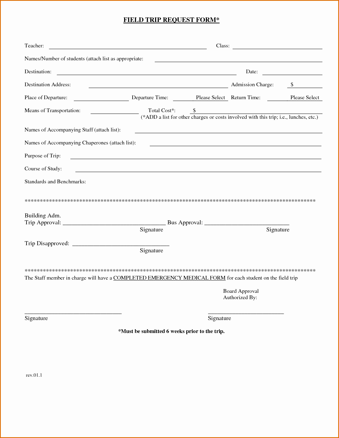 Field Trip form Template Elegant 7 Field Trip form Template