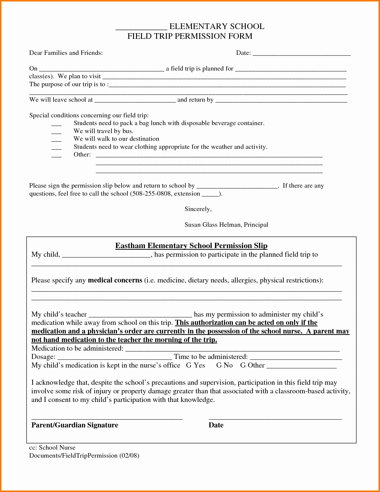 Field Trip form Template Lovely Field Trip form Template
