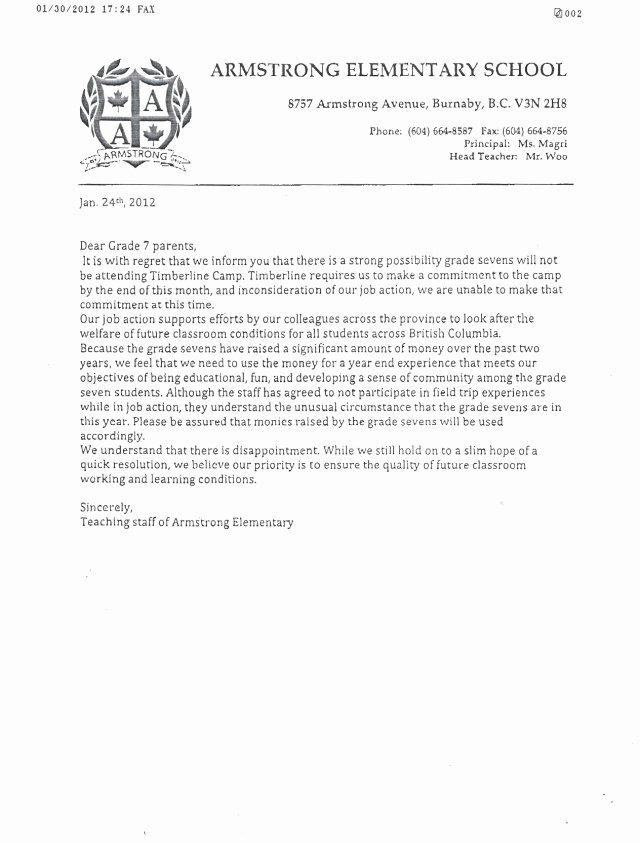Field Trip Letter Template Unique Sample Letter to Parents Regarding Field Trip Armstrong