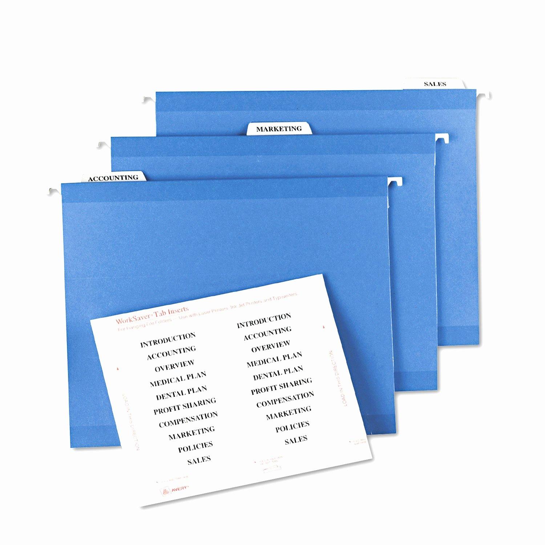 File Folder Tab Template Beautiful Pendaflex Printable Tab Inserts Elegant Hanging File Tab