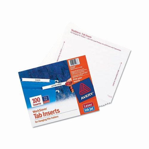 File Folder Tab Template Best Of Avery Laser Inkjet Hanging File Folder Inserts Ave