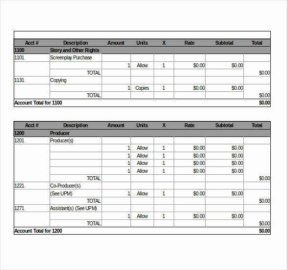 Film Production Budget Template Elegant 9 Movie Bud Templates – Free Sample Example