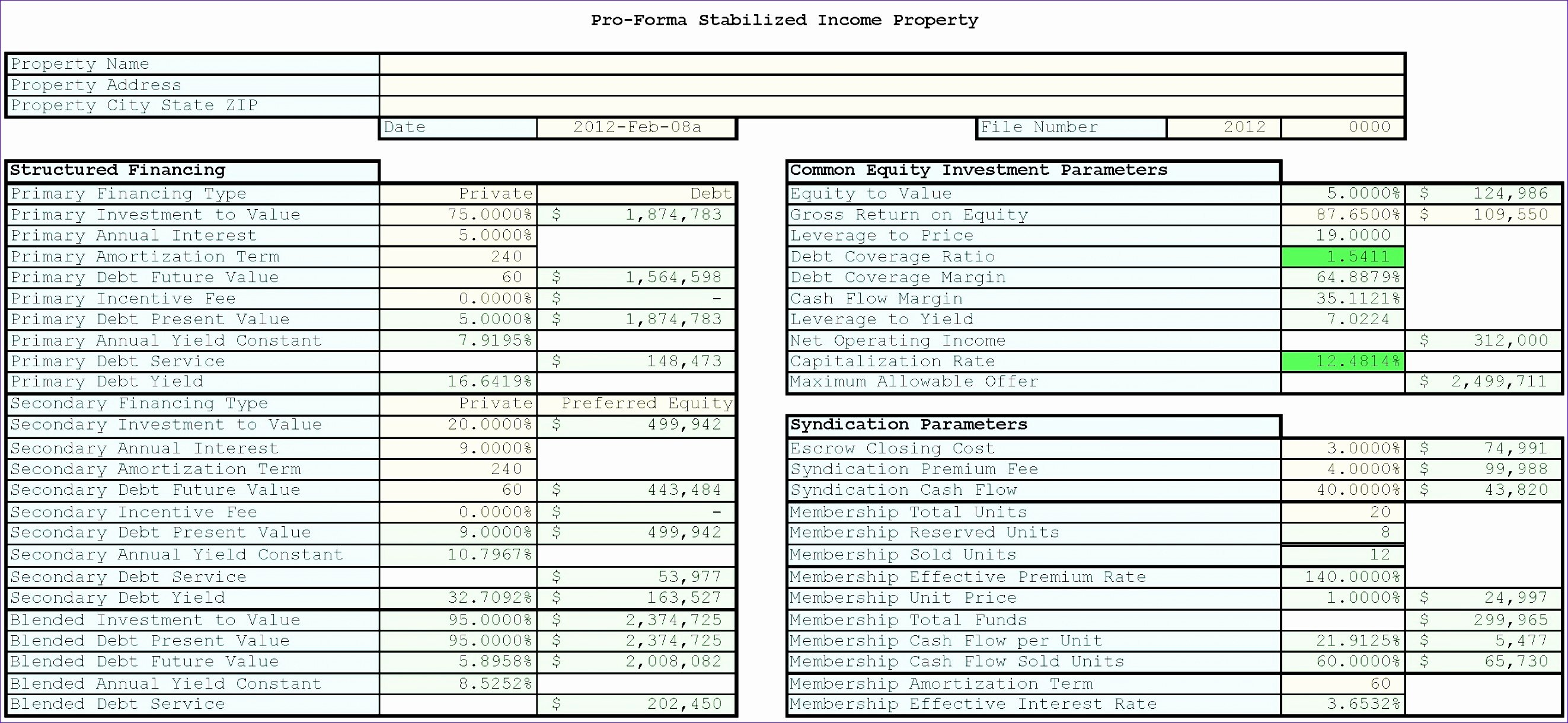 Financial Analysis Excel Template Awesome 10 Financial Analysis Excel Templates Exceltemplates