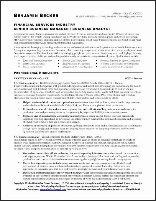 Financial Analyst Resume Template Awesome Resume Sample Business Analyst