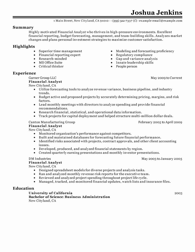 Financial Analyst Resume Template Inspirational Eye Grabbing Analyst Resumes Samples