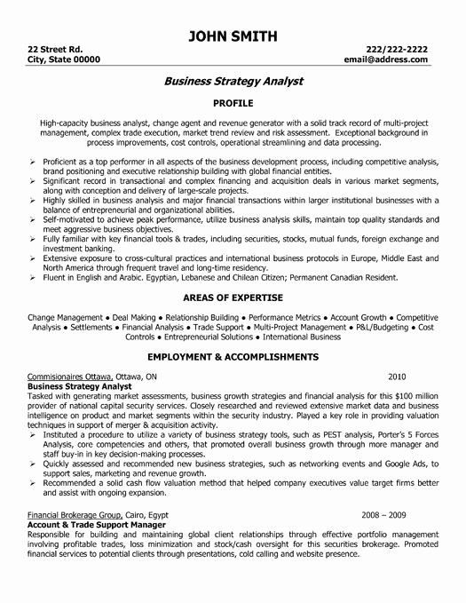 Financial Analyst Resume Template Lovely 10 Best Best Banking Resume Templates & Samples Images On