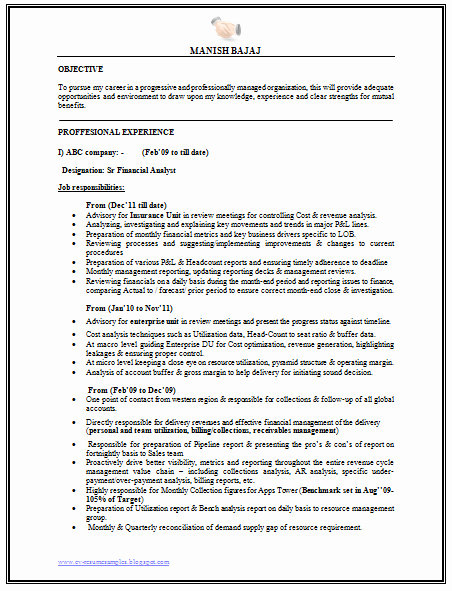 Financial Analyst Resume Template Luxury Over Cv and Resume Samples with Free Download