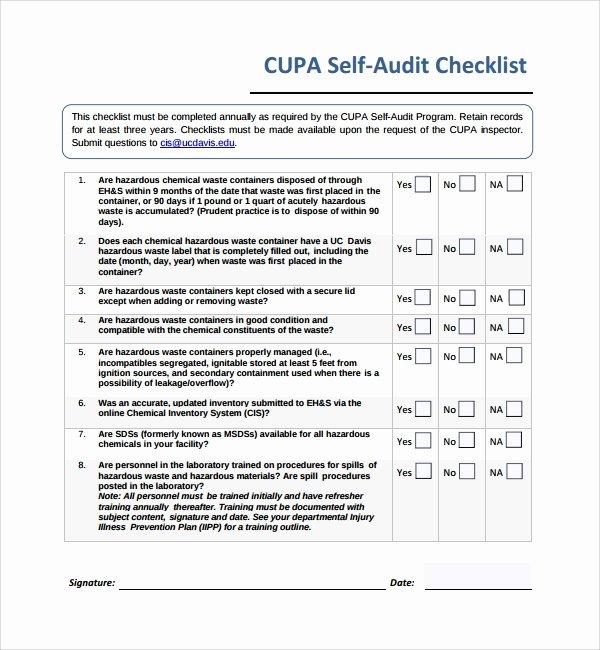 Financial Audit Checklist Template Fresh 13 Audit Checklist Templates – Pdf Word Excel Pages