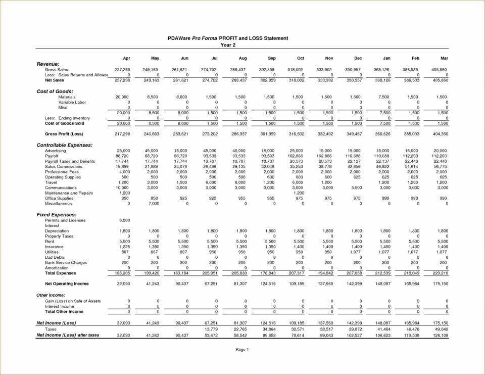 Financial Pro forma Template Awesome Pro forma Financial Statements Example Balance Sheet and