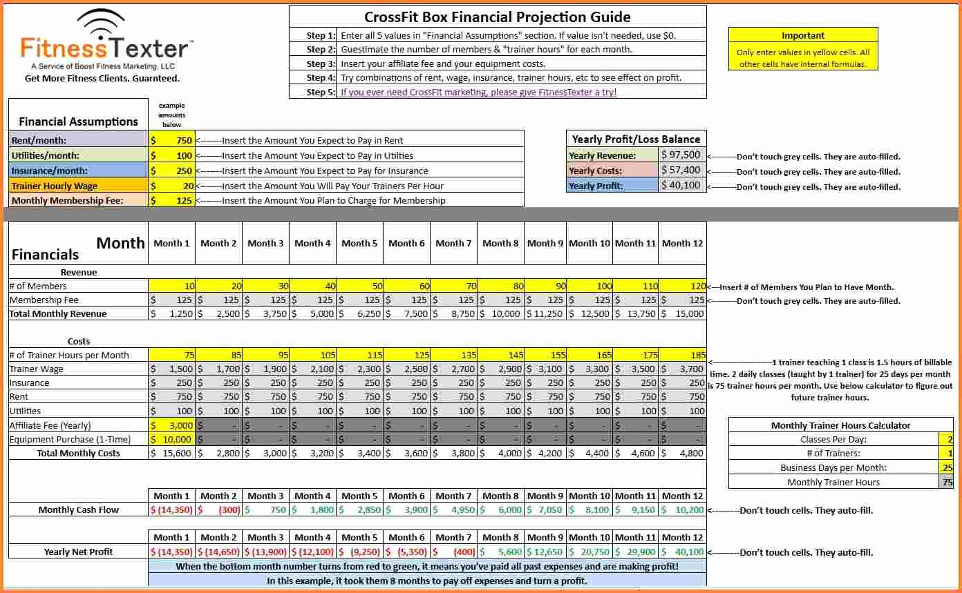 Financial Projection Template Excel Elegant 7 Financial Projections Excel Spreadsheet