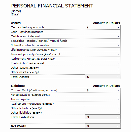 Financial Report Template Word Luxury 4 Financial Statement forms and Templates to Analyze Your