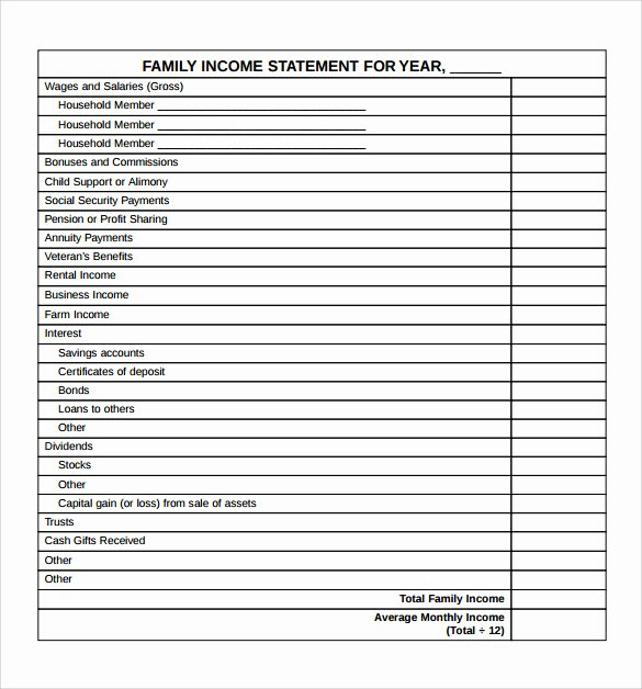 Financial Statement Effects Template Inspirational Free Financial Statement Template