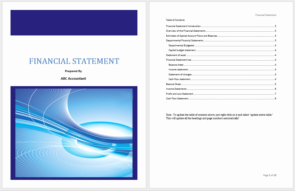 Financial Statement Template Word Awesome Financial Statement Template Microsoft Word Templates