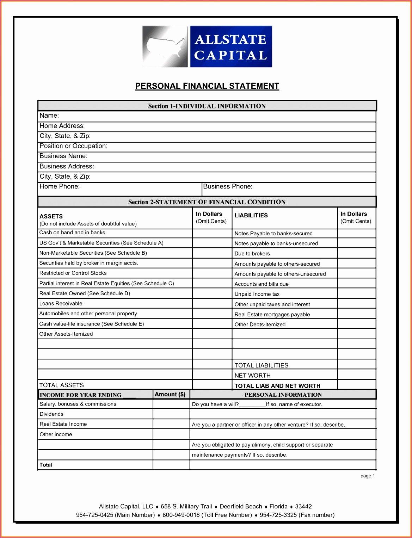 Financial Statement Template Xls Elegant 6 Financial Statements Template Excel Exceltemplates