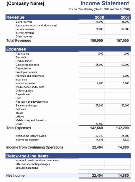 Financial Statement Template Xls New 5 Free In E Statement Examples and Templates