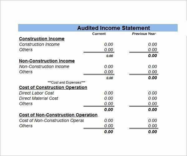 Financial Statement Template Xls Unique 8 Free Financial Statement Templates Word Excel Sheet Pdf