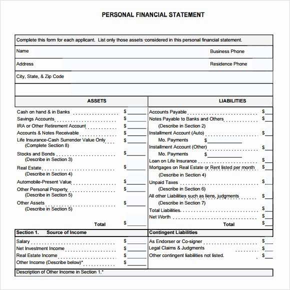 Financial Statements Template Pdf Best Of 7 Sample Financial Summary – Pdf Doc