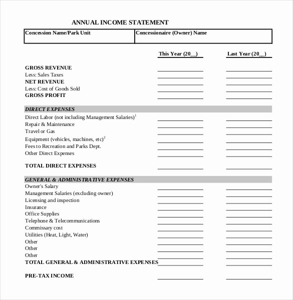 Financial Statements Template Pdf Fresh In E Statement Templates – 23 Free Word Excel Pdf