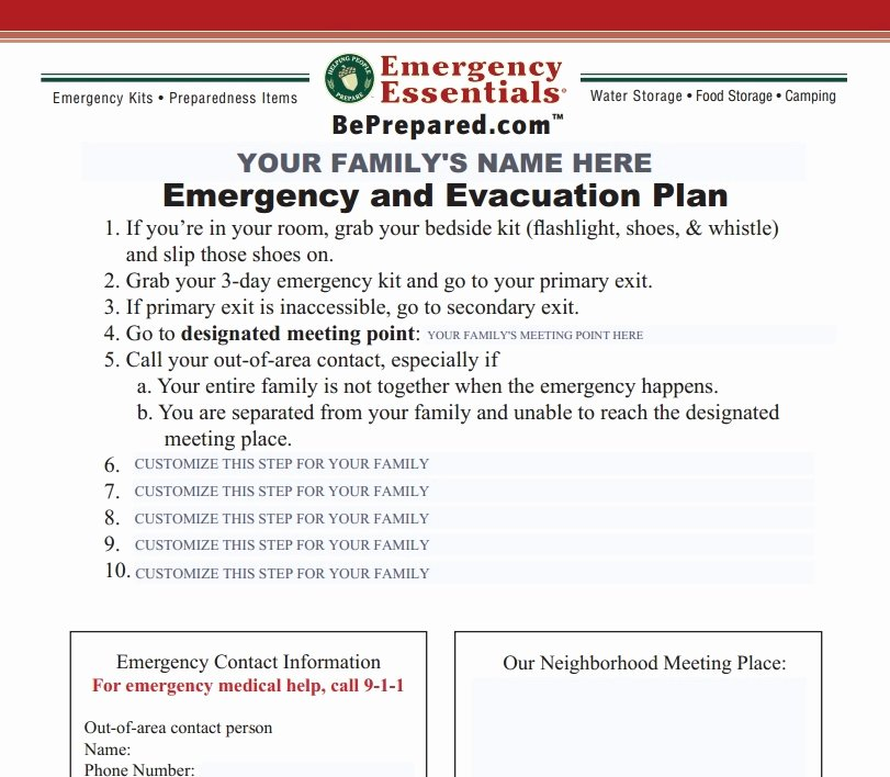 Fire Evacuation Plan Template Awesome Emergency Evacuation Checklist Template Templates