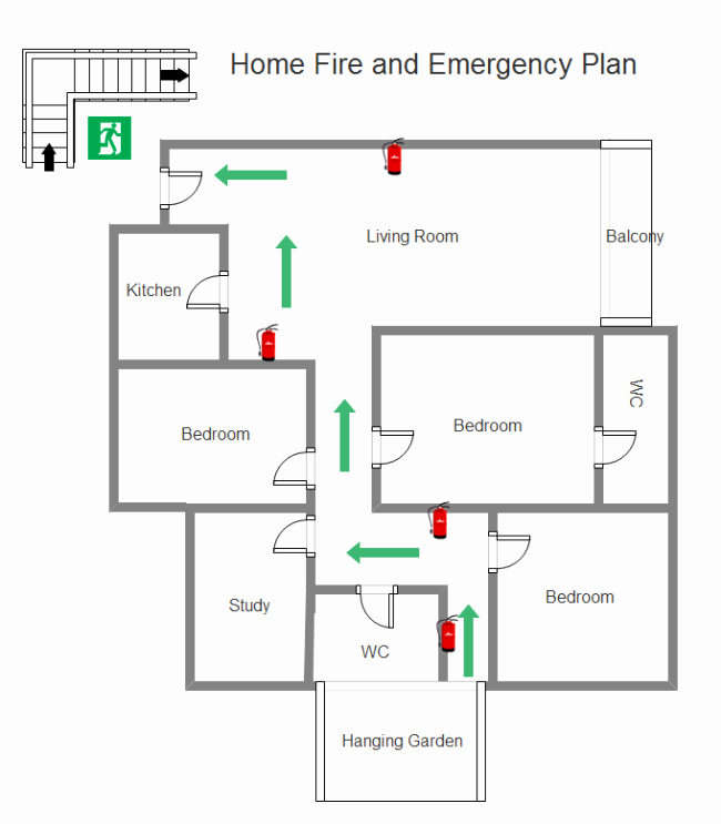 Fire Evacuation Plan Template Beautiful Use the Ideal tool to Make the Perfect Home Emergency