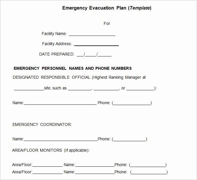 Fire Evacuation Plan Template Fresh 3 Emergency Evacuation Plan Template Word Pdf Google