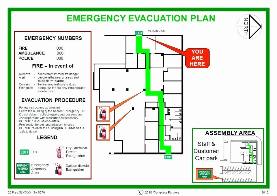 Fire Evacuation Plan Template Inspirational Home Emergency Evacuation Plan Template Sample for New