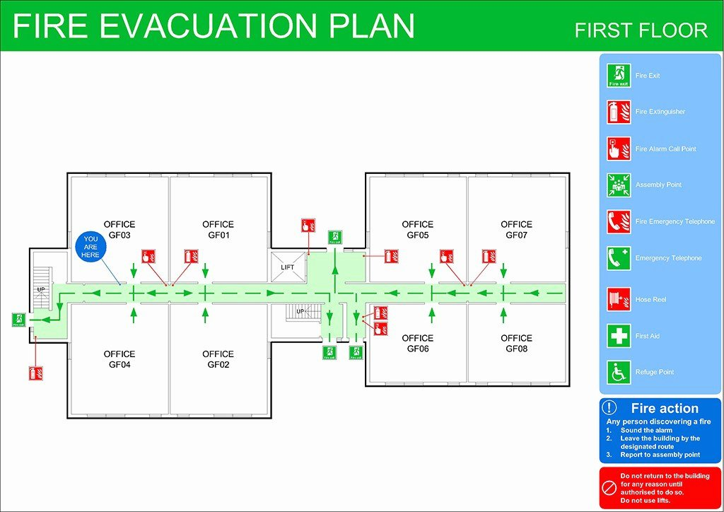 Fire Evacuation Plan Template Lovely Fire Evacuation Plan