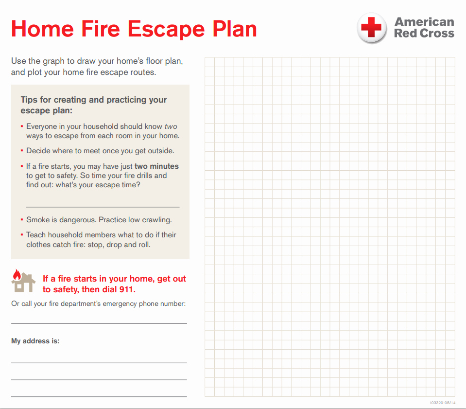 Fire Evacuation Plan Template Lovely Your Home Fire Escape Plan – Central & south Texas Region