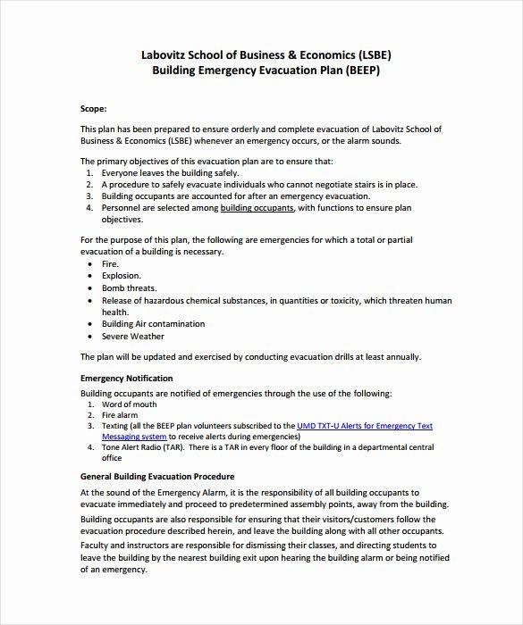 Fire Evacuation Plan Template New 12 Evacuation Plan Templates Google Docs Ms Word