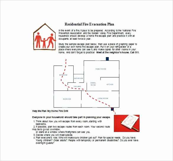 Fire Evacuation Plan Template Unique Fire Evacuation Plan Template for Childminders Templates