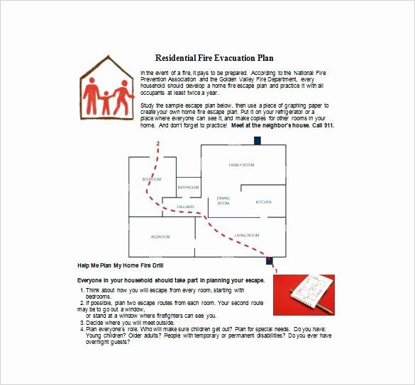 Fire Evacuation Plan Template Unique Fire Evacuation Plan Template for Childminders Templates